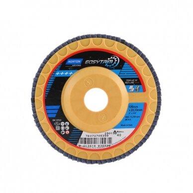 Norton Žiedlapinis diskas R842 125x22 P40 EASY TRIM, konus METAL/INOX