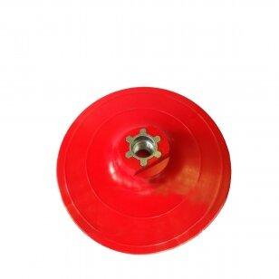 Padas lipniam stiklo šlifavimo diskui 125mm, M14, velcro, medium