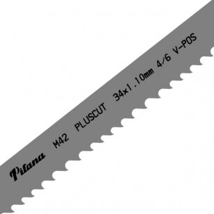 Pjovimo juosta metalui PILA M42 34x1,1x3770 4/6 M V-POS PLUSCUT