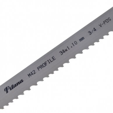 Pjovimo juosta metalui PILA M42-461 34x1.1x4250 4/6 P V-POS