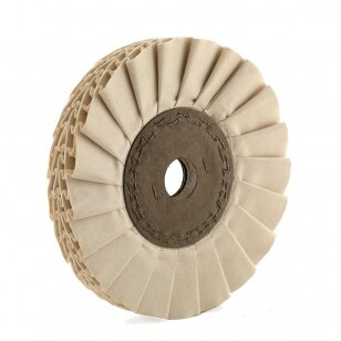 POL Poliravimo diskas PT-M 300x150x46 16 TR4; medvilninis Waved-Ventilated type-V, baltas