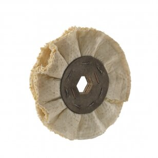 POL Poliravimo diskas VST-AM 150x80x24/6 cardboard 2 SAM/TF D160, Sisal & Coton Waved-Ventilated