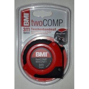 Ruletė BMI twoCOMP 3m. su magnetu