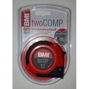 Ruletė BMI twoCOMP 5m. su magnetu