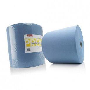 Šluosčių rulonas Satino COMFORT Blue, 2 sluoksniai, mėlynas L555 x D345 (2220 lapelių 250x370)