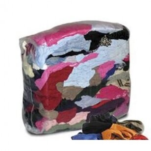 Spalvota tekstilė (pramoninės šluostės) 10 kg.