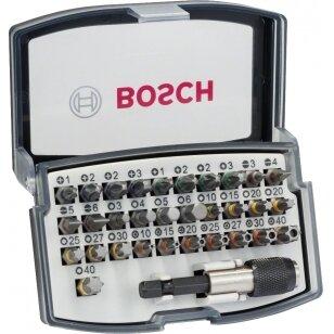 Suktuvo antgalių komplektas Bosch, su splavos kodais, 32 dalių